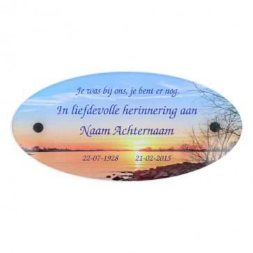 Gedenkplaat plexiglas 29 x 14 cm