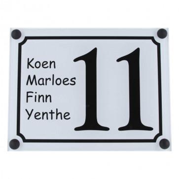 Plexiglas naambord 195 x 145 mm
