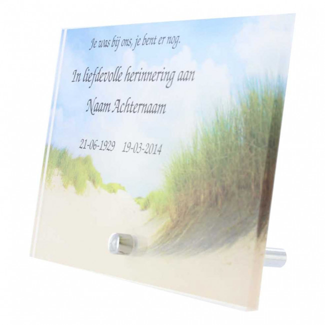 Gedenk Tafel Plexiglas 15 X 10 Maakjenaambord