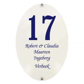 Emaille gebold 11 x 16 cm