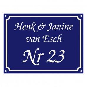 Emaille gebold 20 x 15 cm