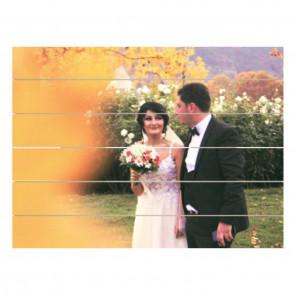 Foto op hout 80 x 60 cm