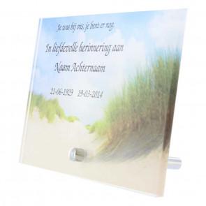Gedenk tafel plexiglas 15 x 10 cm