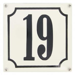 Huisnummer gebold 15 x 15 cm
