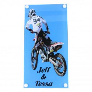 Plexiglas naambord 150 x 290 mm