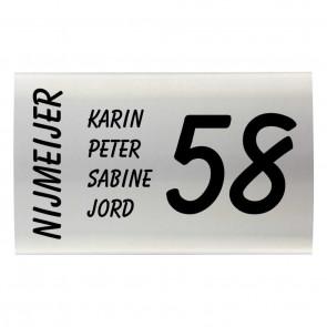 RVS naambord gebogen 30 x 20 cm