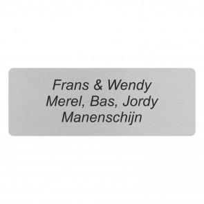 RVS naamplaatje rechthoek 110 x 40