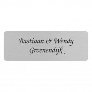 RVS naamplaatje rechthoek 85 x 30
